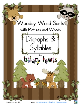 Digraphs & Syllables Word Sorts with Pictures