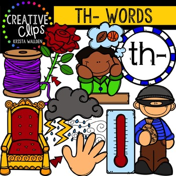 Digraphs - TH Words {Creative Clips Digital Clipart}
