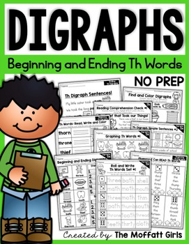 Digraphs (TH Words) NO PREP Packet