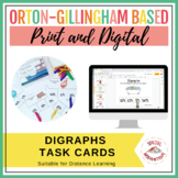 Digraphs Task Box (sh, ch, th, wh, ph) Orton-Gillingham Based