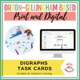 DIGRAPHS Task Cards | Print & Digital | Google Slides™