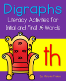 Th Digraph (Initial and Final) Literacy Activities plus Cr