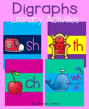 Digraphs- Th, Sh, Ch, Wh, and Ph Literacy Activities Bundle