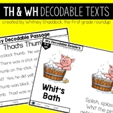 Digraphs Th and Wh Decodable Readers and Passages