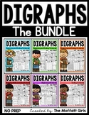 Digraphs (The BUNDLE) NO PREP (sh, th, ch, ck, ph, wh)