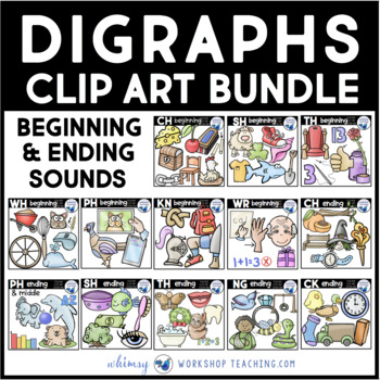 Digraphs Clip Art Value Bundle - 11 Sets
