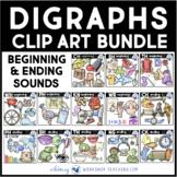 Digraphs Clip Art Value Bundle - Whimsy Workshop Teaching