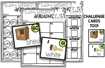 Digraphs WH SH Reading Task Cards