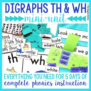 Phonics By Design Digraphs TH & WH Mini-Unit
