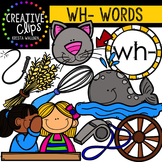 Digraphs - WH Words {Creative Clips Digital Clipart}