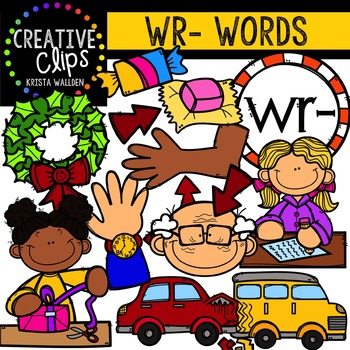 Digraphs - WR Words {Creative Clips Digital Clipart}