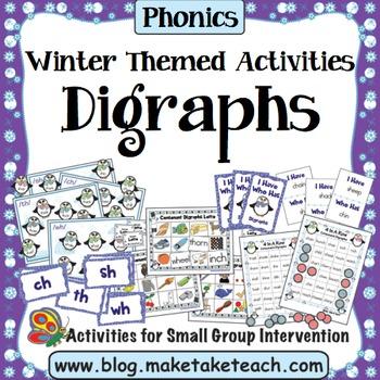 Digraphs - Winter Themed Bundle