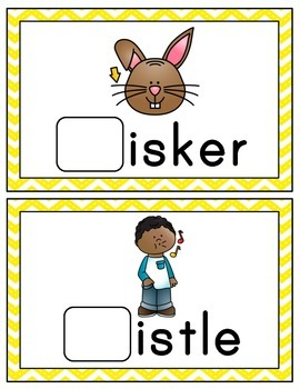 Digraphs: Word Building Cards