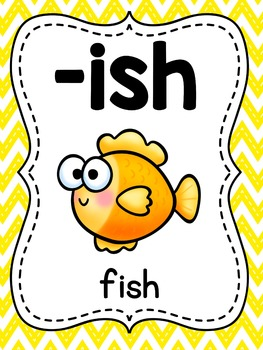 Digraphs Posters for 22 Consonant Digraphs Word Families