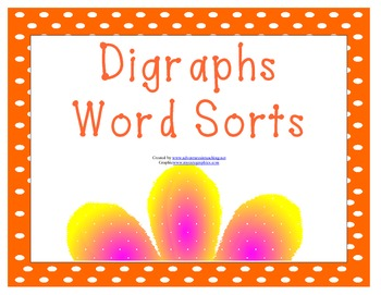 Digraphs Word Sorts