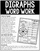 Digraphs Word Work