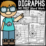 Digraphs Word Work