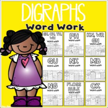 Digraphs Word Work {Bundle}