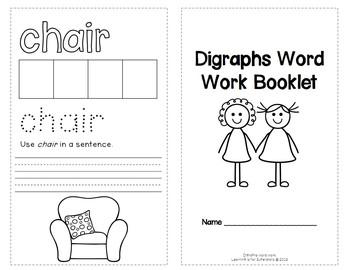 Digraphs Word Work FREEBIE