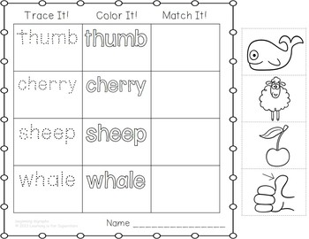 Digraphs Word Work FREEBIE