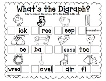 Digraphs Word Work {Independent or Small Group Activities}