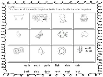 Digraphs Practice Packet