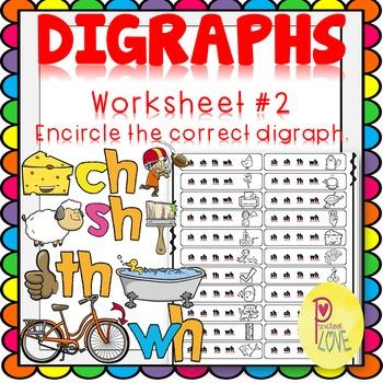 Digraphs Worksheet Encircle