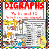Digraphs Worksheet Write