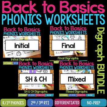 Digraphs Worksheets & Activities (No-Prep Phonics Worksheets)