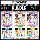 Digraphs BUNDLE ~ Worksheets for SH CH TH WH CK PH {NO PREP Printables}