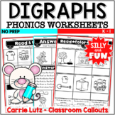 Digraphs Worksheets ~ Busy Bodies No-Prep Printables