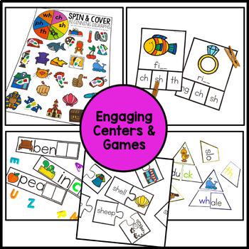 Digraphs Worksheets & Centers