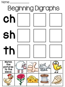 Digraphs Worksheets: Digraphs Word Sorts Worksheets by Miss Giraffe   Teachers Pay Teachers,