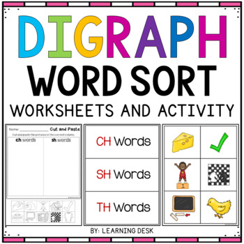 Consonant Digraphs Sh Th Wh Ch Digraphs Worksheets By Learning Desk