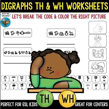 Digraphs Worksheets: th and wh