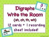 Digraphs Write the Room / Scoot / Literacy Center Activity