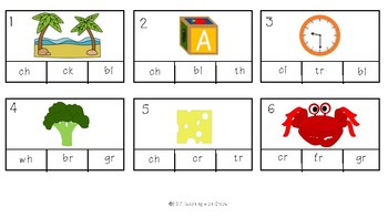 Digraphs and Blends: Clip It Activity #happylaborday