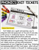 Digraphs and Blends Exit Tickets
