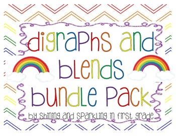 Digraphs and Blends Literacy Centers Bundle Pack