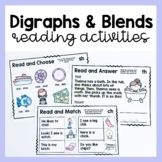 Digraphs and Blends Reading Activities sh, ch, th, wh digraphs & s, r, l blends