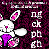 Digraphs and Blends - ph=/f/, gh=/f/, ck=/k/, ng - Easter