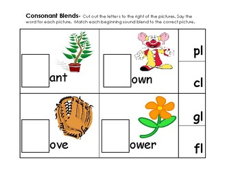Digraphs and Consonant Blends Activity