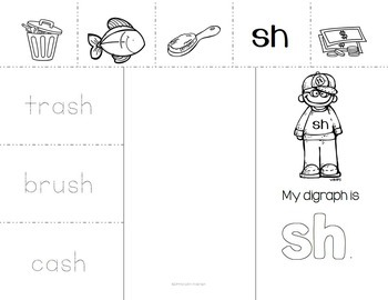 Digraphs and R-Controlled Vowels Interactive Word Work