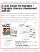 Digraphs and Trigraphs Word Lists Literacy Assessment ADD ON #3
