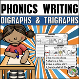 Digraphs Writing and Trigraphs 3 Letter Blends Writing Worksheets