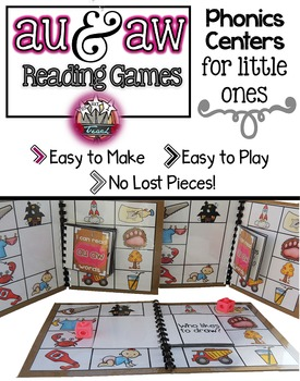 Digraphs au aw:  Phonics Games for Word Work or Centers