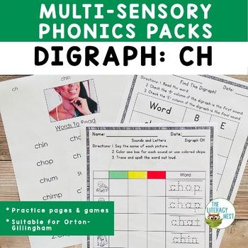 Digraphs CH Orton-Gillingham Level 1 Multisensory Phonics Activities