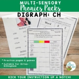 Digraph: CH   Orton-Gillingham Multisensory Phonics Activi