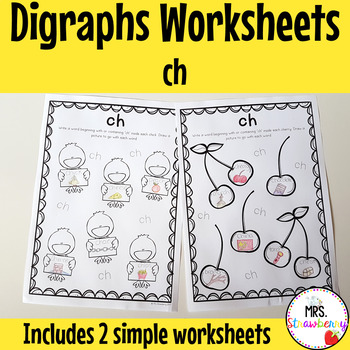 Digraphs: ch Worksheets
