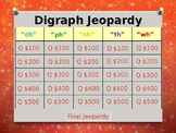 Digraphs (ch, ph, sh, th, wh) Jeopardy Power Point